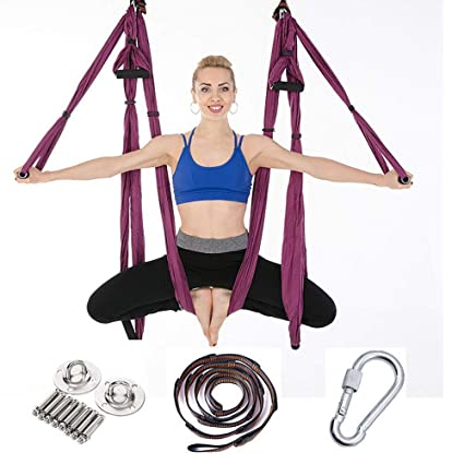 Amazon.com : Trapeze Yoga Kit, Inversion Swing for Beginners ...