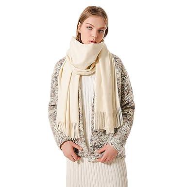 LEvifun Écharpes Femme Foulards Longue Chaud Cashmere Solide Tissu Solide  Foulard Vogue en Automne Hiver Souple f798da25656
