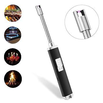 Dewanxin Encendedor EléCtrico Sin Llama, Resistente Al Viento,USB,Recargable para Camping, Barbacoa, Estufa,Fuegos Artificiales, Sin Chispa Ni Olor (B): ...
