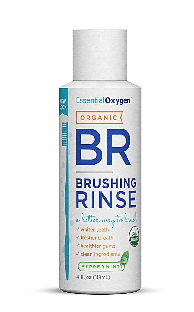 海外直送品Essential Oxygen+ Brushing Rinse, Peppermint 4 oz by Raw Essentials Living Foods B0041V1E1I