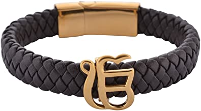 black elegant leather bracelet product unisex