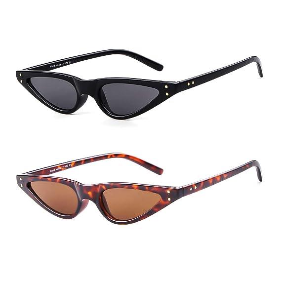 ADEWU Gafas de sol retro pequeñas con ojos de gato (2pcs ...