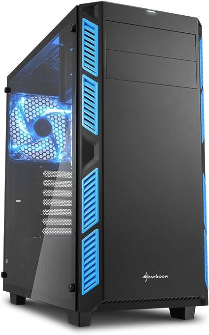 Sharkoon ai7000 Window - Caja de Ordenador, pc Gaming, semitorre ATX, Azul.: Sharkoon: Amazon.es: Informática