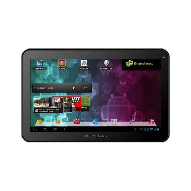 Visual Land Prestige 10 Android 4.0 ICS/16GB/10 In Multi Touch Capacitive/1.2GHz/1GB DDR3 RAM/Dual Cameras/HDMI Out (Purple)