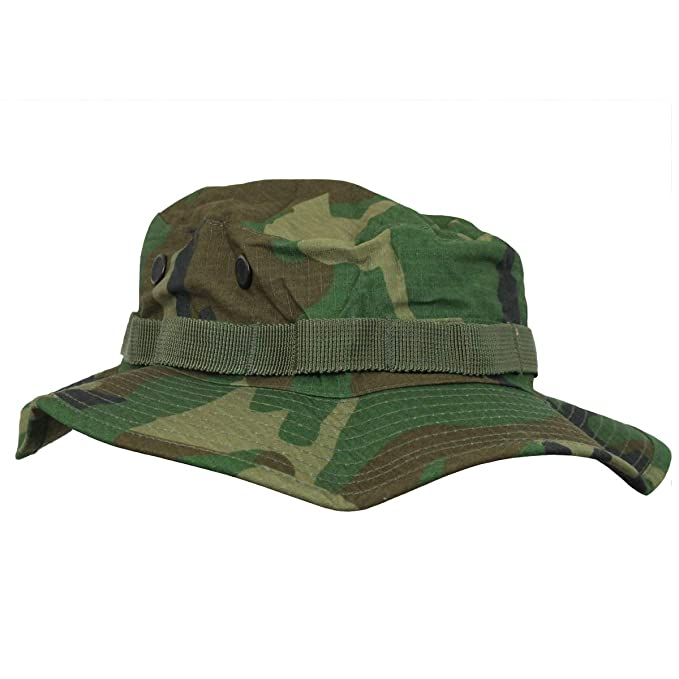 b428d4cb34b Mil-Tec US Army Style Woodland Camouflage Jungle Boonie Bucket Hat   Amazon.co.uk  Clothing