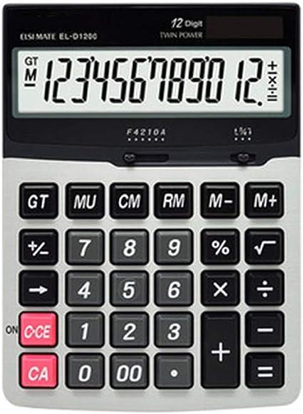 WWDDVH Calculadora De Mesa De Trabajo Mediana Calculadora De 12 ...