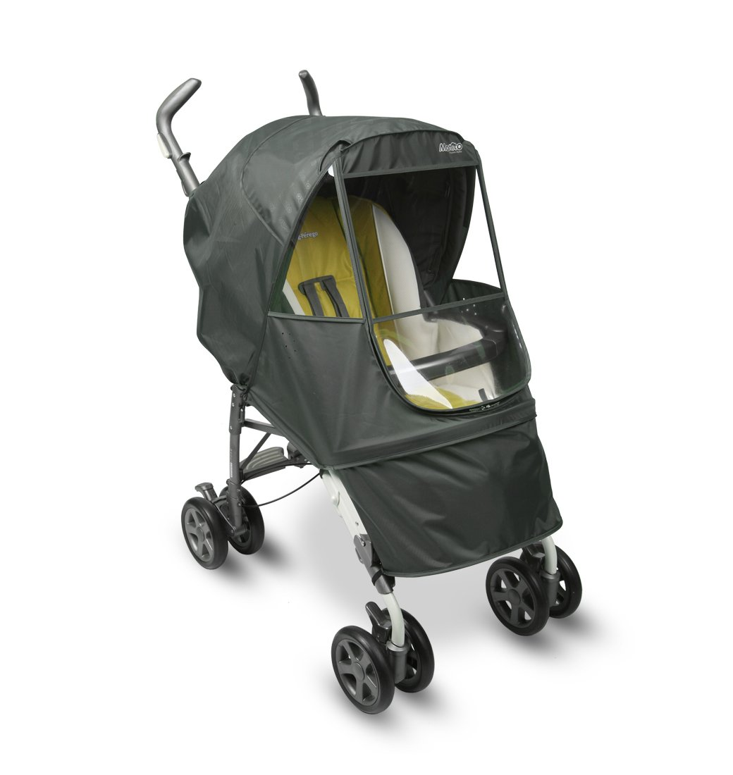 Manito Elegance Alpha Stroller Weather Shield/Rain Cover (Grey) by Manito