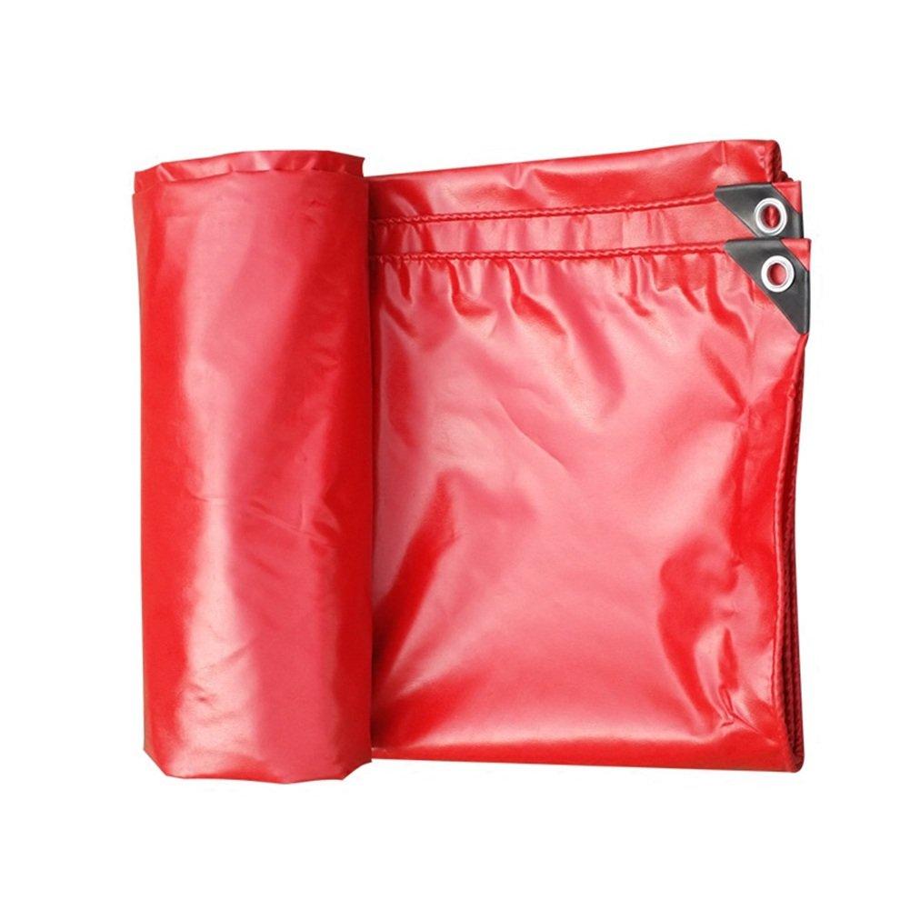 CHAOXIANG オーニング 厚い 防水 耐寒性 アンチサン シェード 耐摩耗性 耐引裂性 耐食性 防風 防塵の PVC 赤、 530g/m 2、 厚さ 0.42mm、 13サイズ (色 : 赤, サイズ さいず : 4×4m) B07DC5FQH3 4×4m|赤 赤 4×4m
