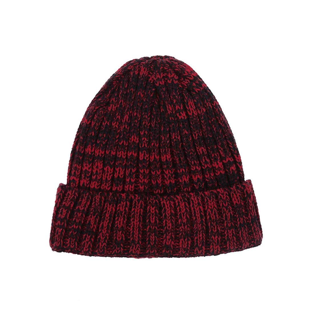 5d62ece5ffcd7a Hüte Dunkelrot VWH Damen Herren Mütze Wintermütze Weiche Mütze Warme Mütze  Damen