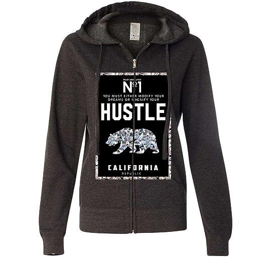 065585acb 1 Diamond Hustle Ladies Zip-Up Hoodie at Amazon Women's Clothing store: