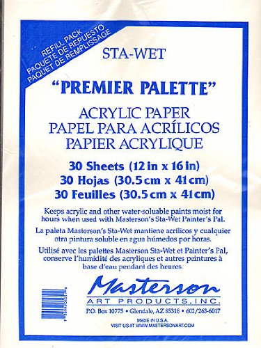 (Masterson Premier Acrylic Paper and Sponge Refills pack of 30 acrylic paper refill [PACK OF 2 ])