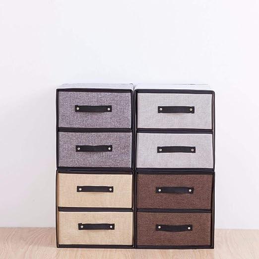 Cajymjxna Diseño de cajones de Almacenamiento de Lino Caja de ...