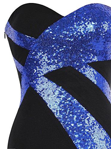 Cruzado Blanco Negro Tirantes Mujer fashions Sin De Vestido Noche Marino Azul Clasico Angel Novio f1qZgxw