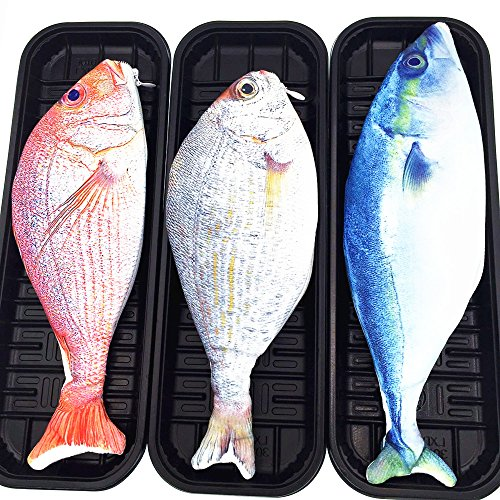 CECII 1PCS Fish Zipper Pouch Waterproof Creative Weird Pencil Pen Case, Coin Purse, Cosmetic Makeup Bag (randomly-selected (Makeup In The 80s)