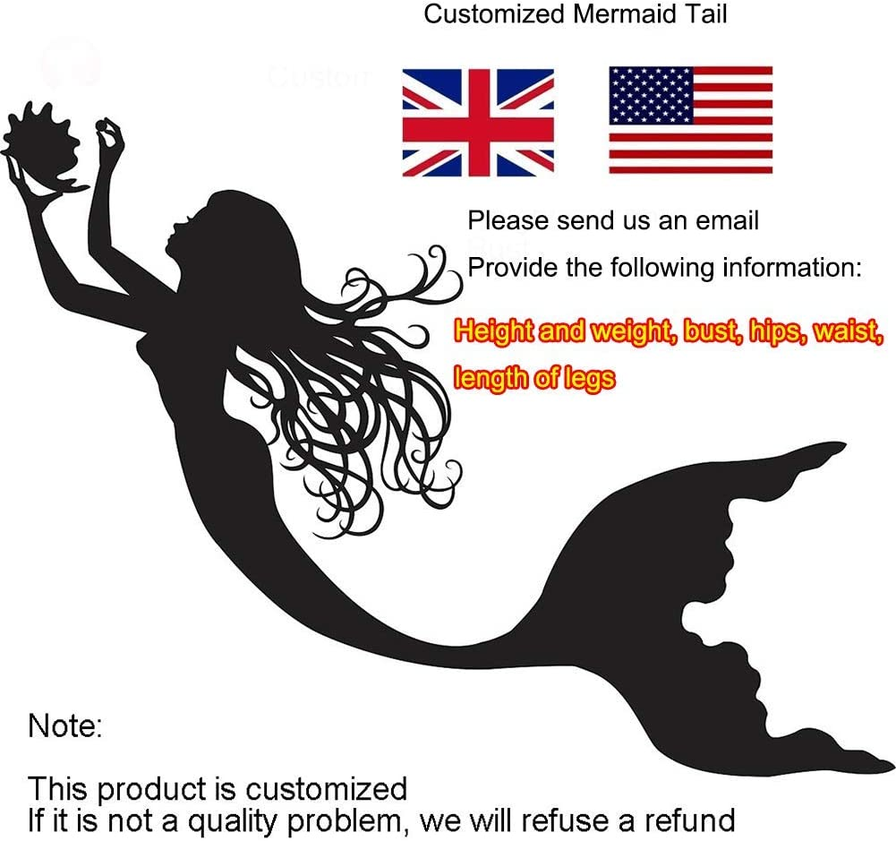 Mermaid Tail For Adult Girl, Swimsuit Mermaid Tail, Swimming Matching Swimsuits, Suitable For Summer Beach(Color:Style-B) Style-l