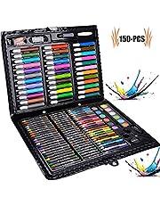 Caja Colores Niños, Legendog Lapices De Colores, Lapices De Colores Niños, Conjunto de Pintura con 176 accesorios