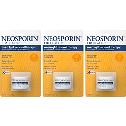 Neosporin Lip Health Overnight Renewal Therapy 0.27 oz (Pack of 3) best lip balms
