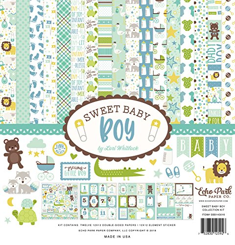 Echo Park Paper Company Sweet Baby Boy Collection Kit by Echo Park Paper Company