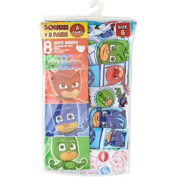 Amazon.com: PJ Masks Boys 8 pack Briefs Underwear - Catboy, Owlette, Gekko (4): Clothing