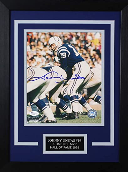 99e7cc49374 Johnny Unitas Autographed Colts Photo - Beautifully Matted and Framed -  Hand Signed By Johnny Unitas