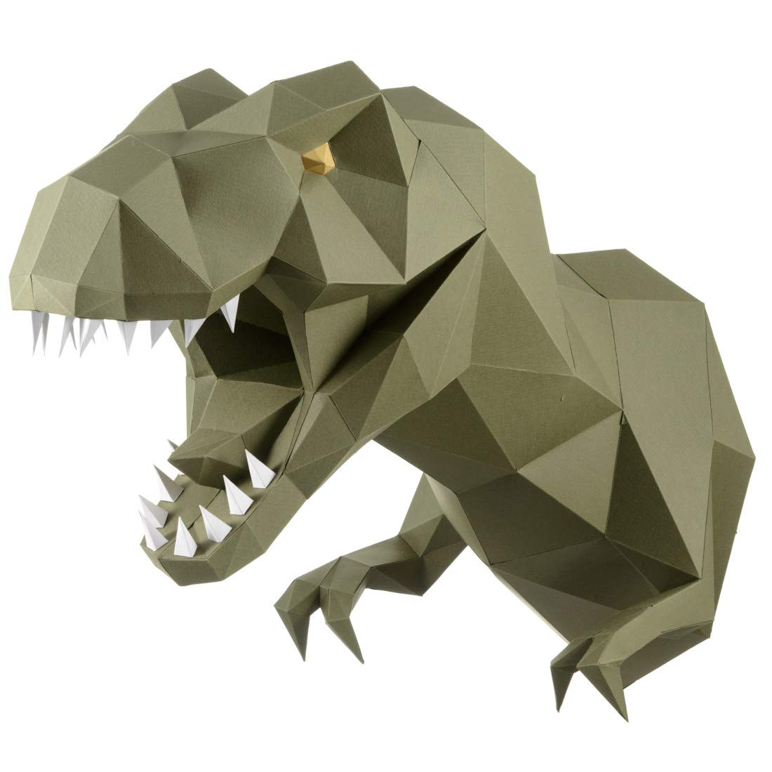 Paperraz 3D Dinosaur Dino Head Animal Building Trophy Puzzle Low Poly  PaperCraft Kit for Adults & Teens - NO Scissors Needed