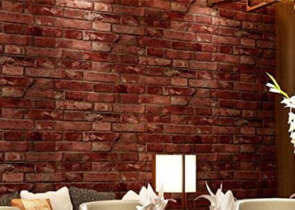 Bigkyo 3d Self Adhesive Wallpaper Realistic Red Brick Roll