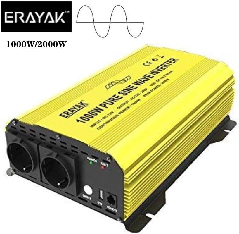 500W Wechselrichter ERAYAK Spannungswandler Wechselrichter 300W//500W//600W//1000W//1500W//2000W//3000W