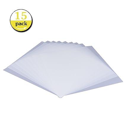 amazon com 15 pieces blank stencil sheets square blank mylar