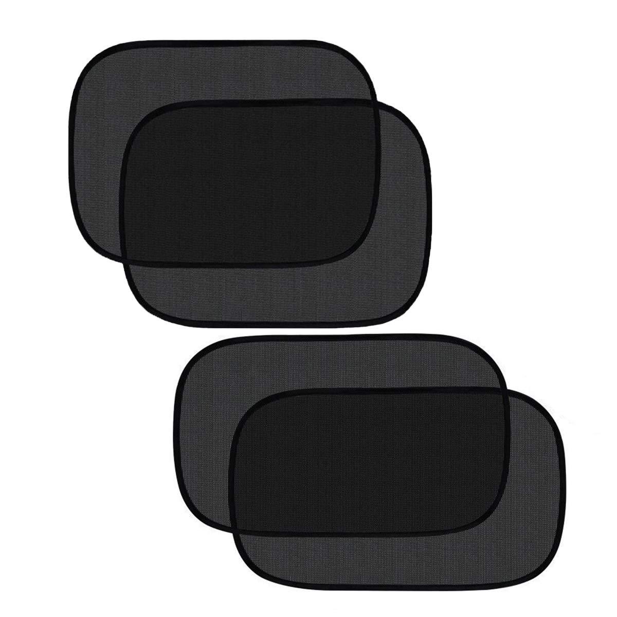 Pulaisen Car Window Shade - Sunshade for Car Side Window Clings - 80GSM UPF50+ Blocks Over 99% of Harmful UV Rays - Baby Side Window Car Sun Shades 20''x 12'' and 19''x 14'' (20''x12''&19''x14'')