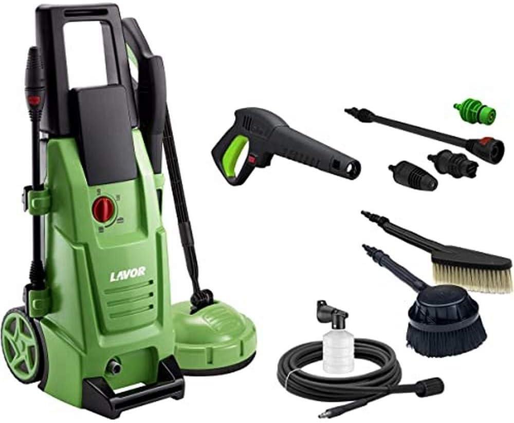 Lavor 8.092.0080C Hidrolimpiadora de Agua fría Ninja Plus 145 WPS, 1900 W, 230 V, Verde