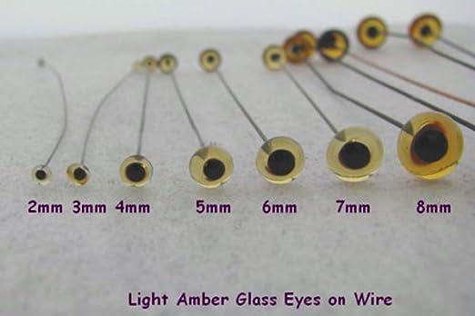 1 Pair Glass eyes for teddy bear//artist bear Black 7 MM