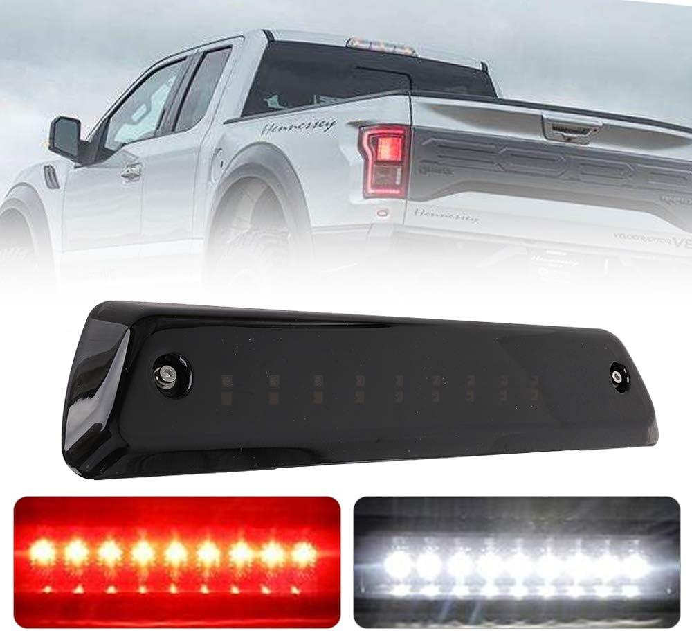 3rd Third Brake Light Rear Brake Light Cargo Lamp Fit for 2009-2014 Ford F-150 Pickup Truck Center High Mount Stop Light Replaces AL3Z 13A613 E AL3Z13A613E Chrome Housing Red Lens