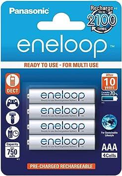 Panasonic Eneloop SY3052685 - Pack 4 Pilas Recargables, AAA: Amazon.es: Electrónica