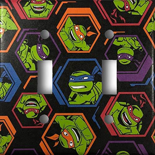 Teenage Mutant Ninja Turtles Decorative Double Toggle Light Switch Cover Wall Plate