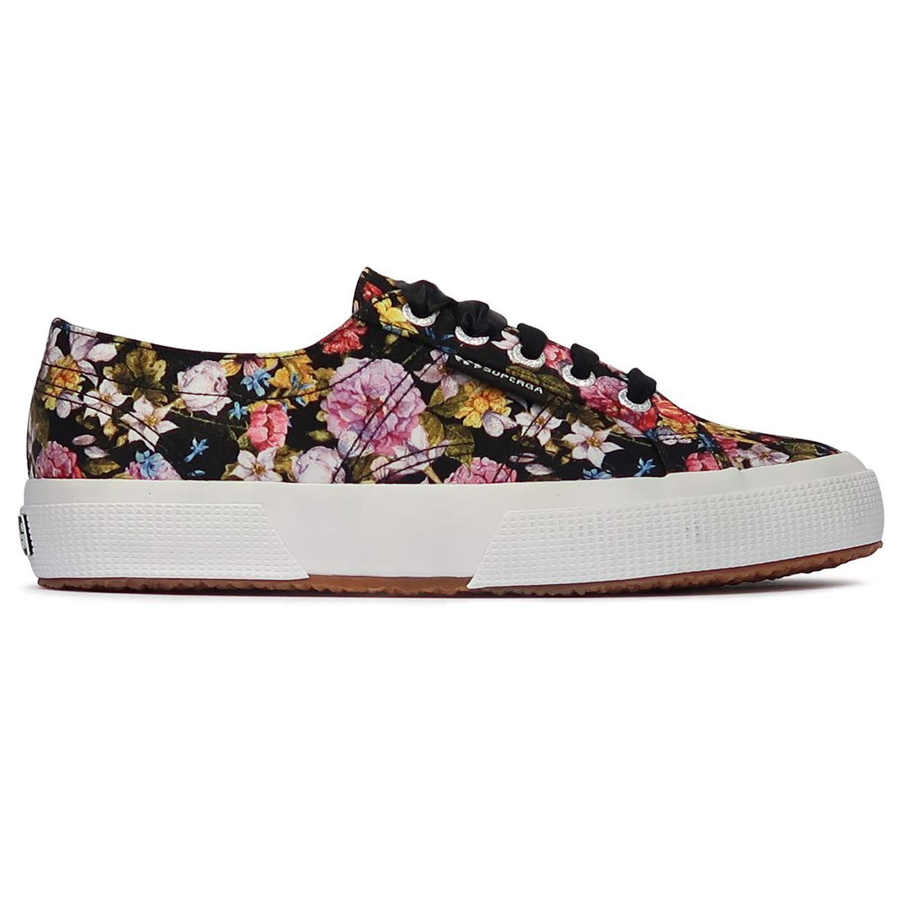 7a19f5850 Superga Womens 2750 Flowery Satin Closed Toe Low Top Lace Up Trainers:  Amazon.co.uk: Shoes & Bags