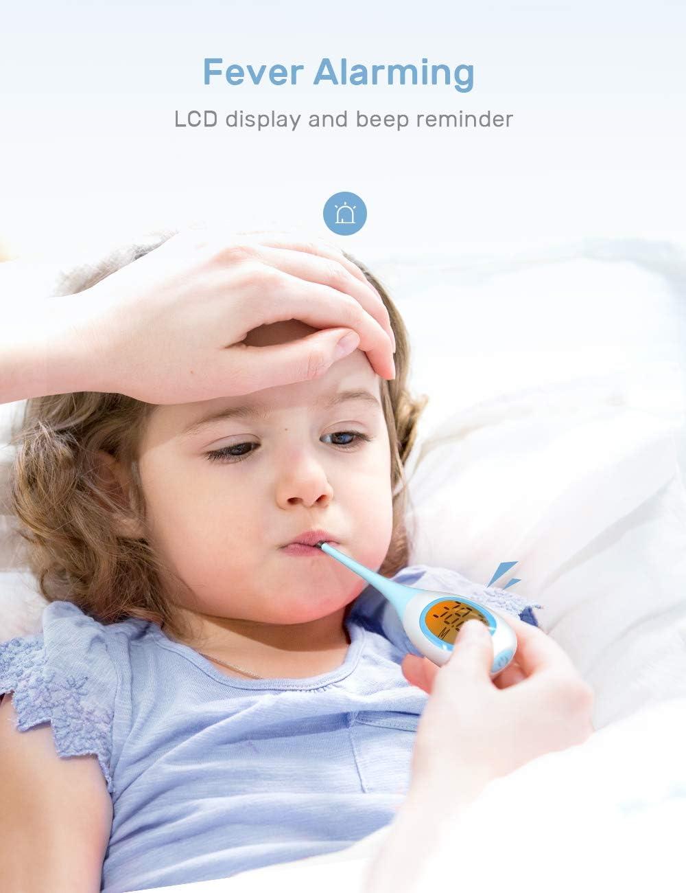 term/ómetro para adultos r/ápido y preciso ni/ños y beb/és para medicina digital rectal y oral para la fiebre Term/ómetro digital CocoBear