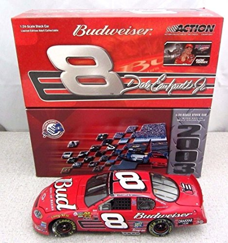 4th Straight Talladega Win Edition Dale Earnhardt Jr #8 Budweiser 2003 Raced Win Version April 2003 1/24 Scale Diecast Hood Opens, Trunk Opens Limited Edition Action Racing