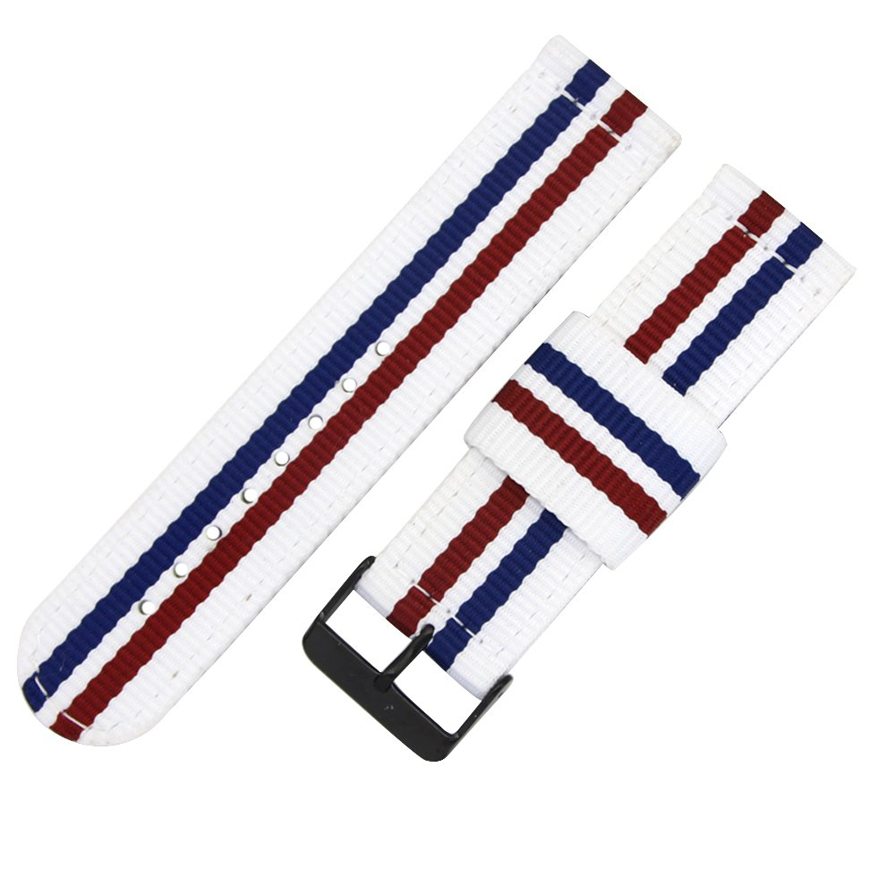 Top Grade Nylon Watch Straps Bands Nato style 24mm Replacements for Men Colorful Military Casual Durable