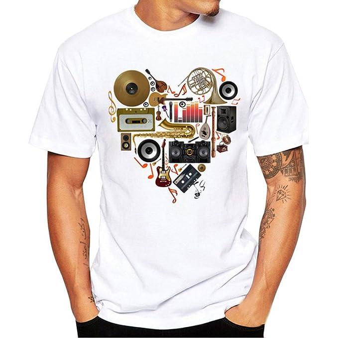 Blusa de Los Hombres Rovinci Camiseta de Manga Corta para Hombre con Estampado de Calaveras Camiseta Camiseta Blusa Tops¡Gran promoción!: