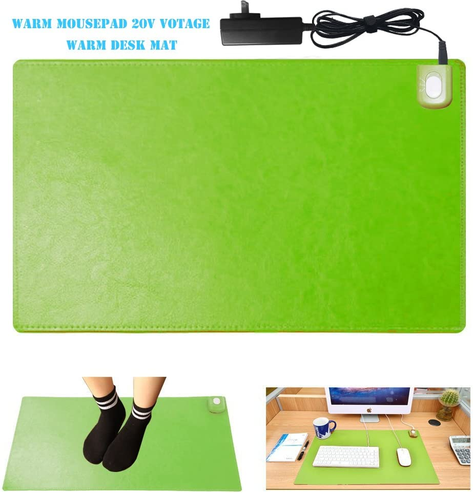 YCKZZR Mouse Pad Heating Pad Table Mat Safety Voltage 1 Minute Rapid Fever Water-Resistant Non-Slip for Computer and Desk Writing Warm Winter Hot Plate