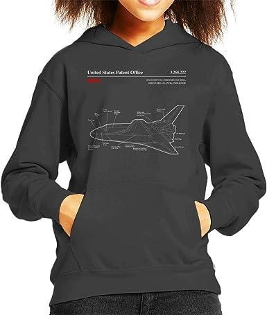 Nasa Apollo Control Systems Blueprint Mens Hooded Sweatshirt