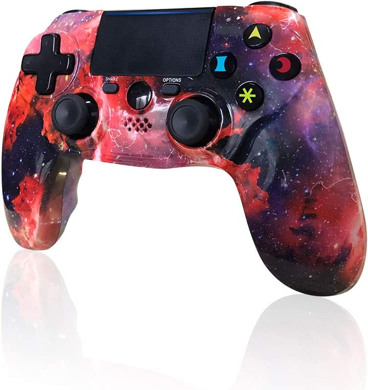 CHENGDAO PS4 Controller Wireless 2020 New Galaxy Style DS4 High Performance Gaming Gamepad for Sony Playstation 4/Pro/Slim/PC with Audio Function, Mini LED Indicator, USB Cable (Galaxy)