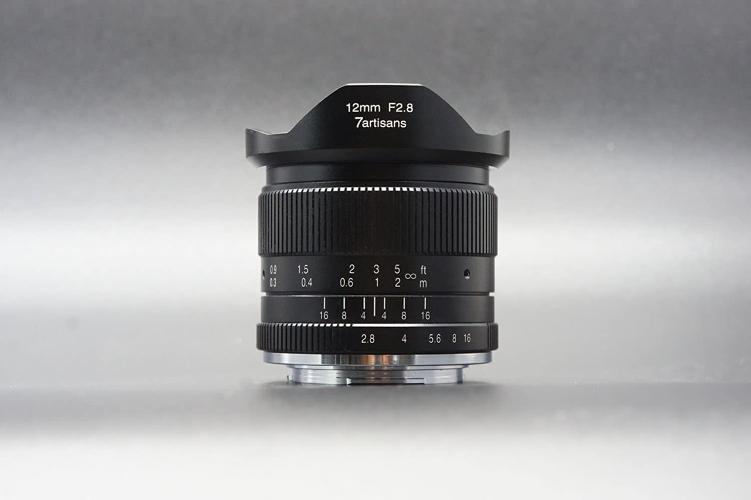 7artisans 12mm F2.8 APS-C Ultra Wide Angle Lens for Canon EOS M EF-M Mount Mirrorless Camera M1 M2 M3 M5 M6 M10 Manual Focus Prime Fixed Lens