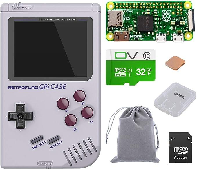 Owootecc Retroflag Gpi Case Pour Raspberry Pi Zero Et Zero W Avec Arrêt Sécurisé Case With 32g Zero W Amazon Fr Informatique
