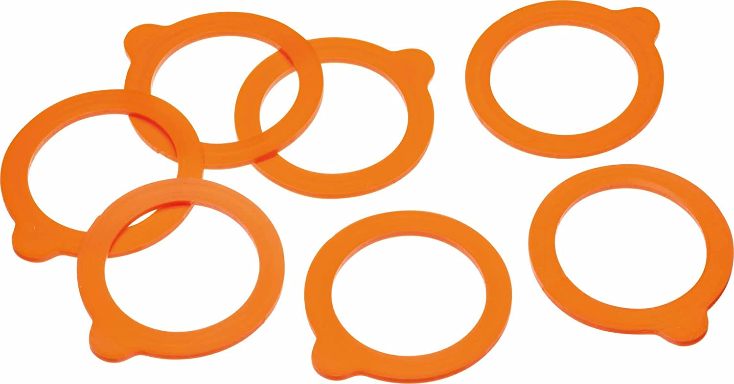 KitchenCraft Home Made Silicone Glass Terrine Jar Ring, Set of 10 Kitchen Craft KCTERSEALSIL