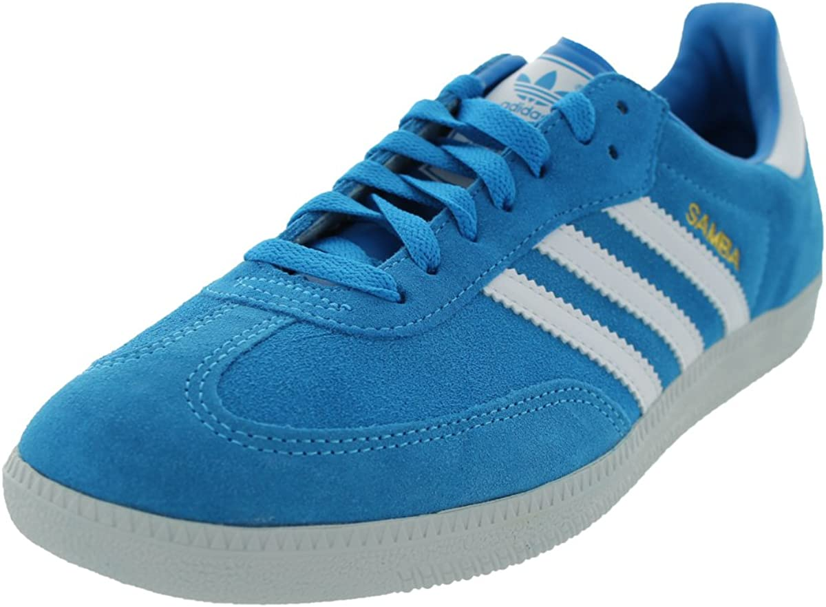 blue and white sambas
