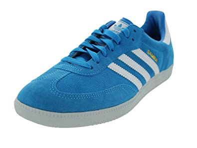 79c13b85fb1b Image Unavailable. Image not available for. Colour  Adidas Samba Blue White  Mens Trainers Size 9.5 UK