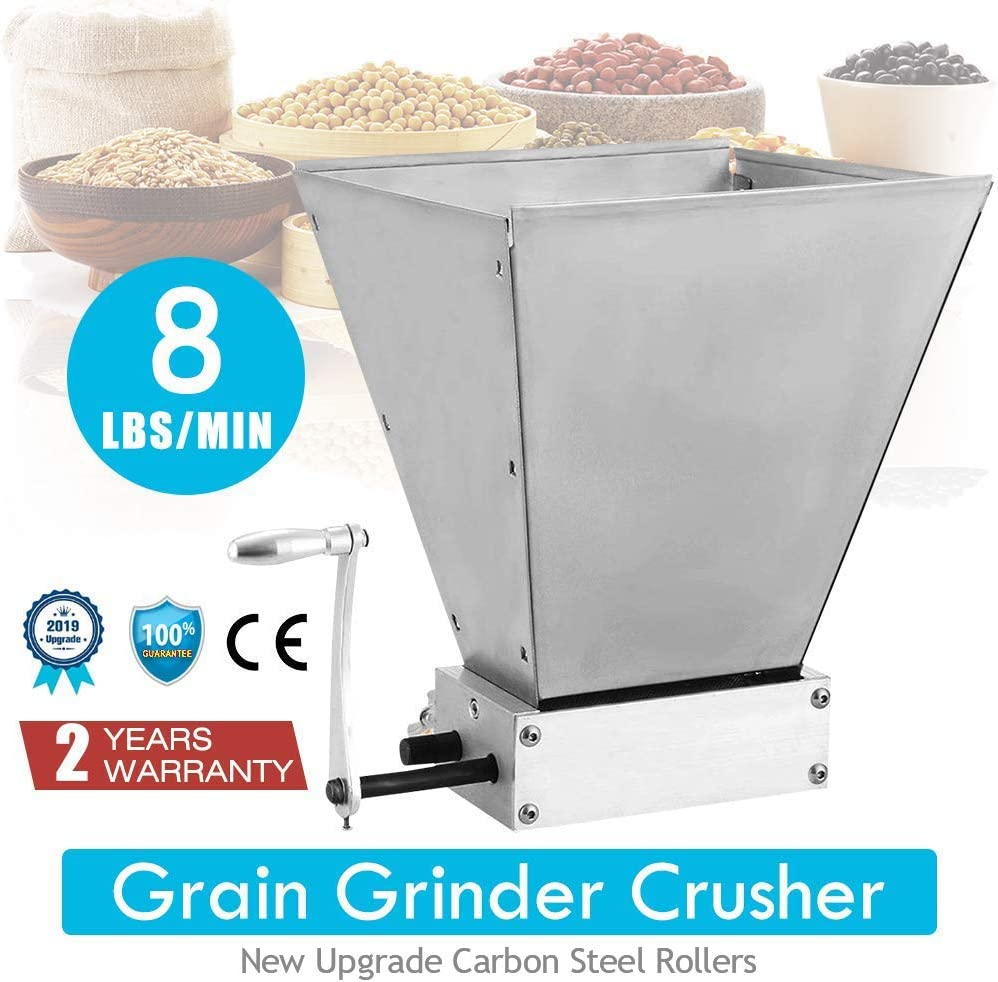 Vogvigo Manual Malt Miller 2 Roller Grain Crusher Barley Malt Mill Homebrew Grain Grinder Crusher Beer