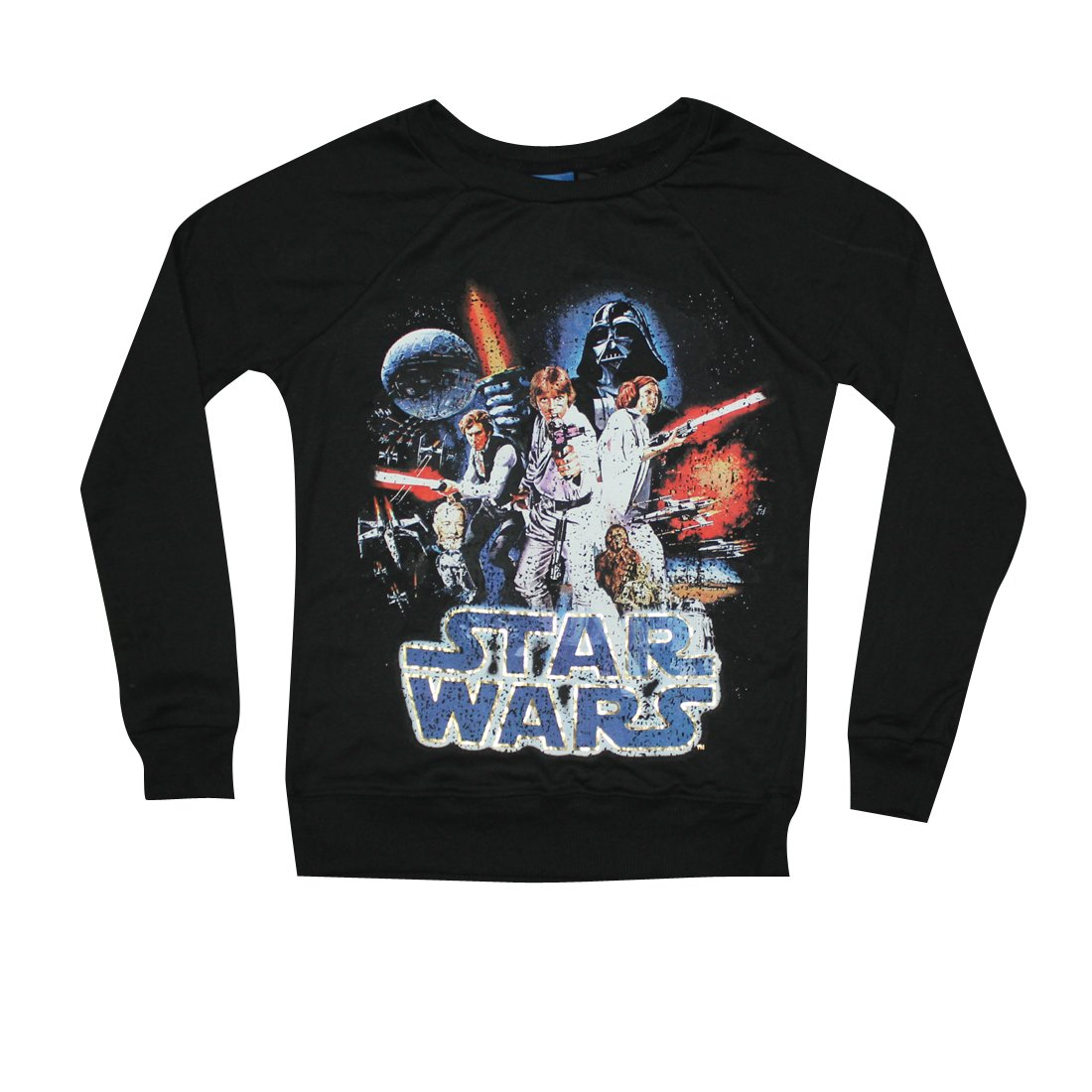 Star-Wars Girls Crew-Neck Long Sleeve Pullover Sweatshirt