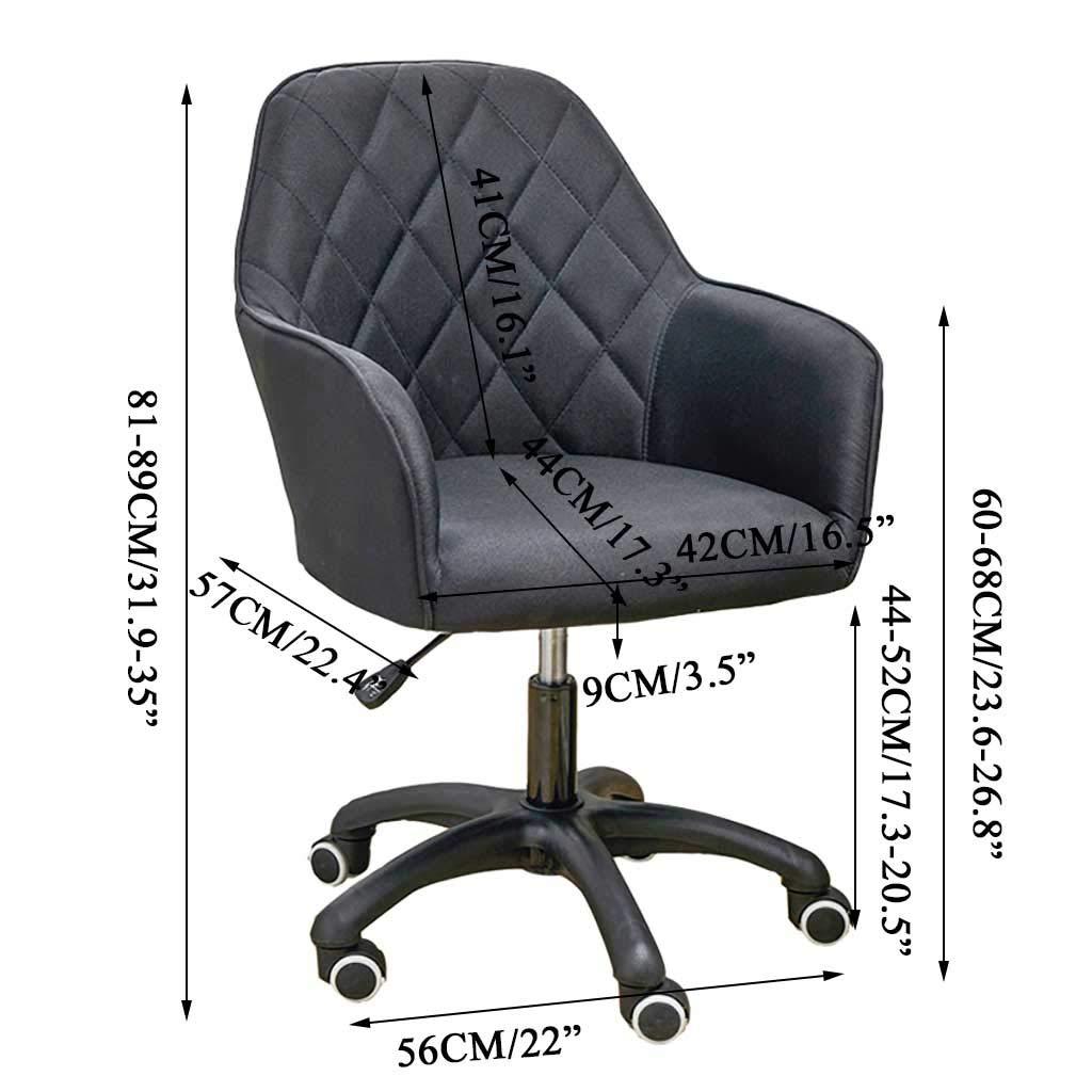 GAOPANG svängbar uppgift stol ergonomisk kontorsstol dator skrivbordsstol, med vadderat armstöd för hemmakontor konferensstudierum Svart
